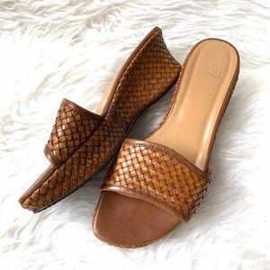 Stuart Weitzman Basketweave Woven Sandal 8.5